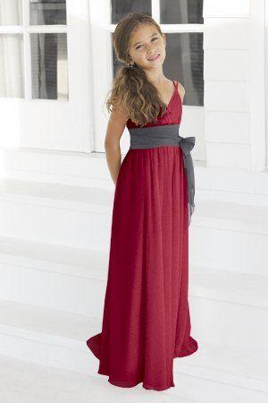 b69fc8cad455 Charmeuse Bow,Spaghetti Straps,V-neck Style 45 Junior Bridesmaid Dress by Alexia  Designs