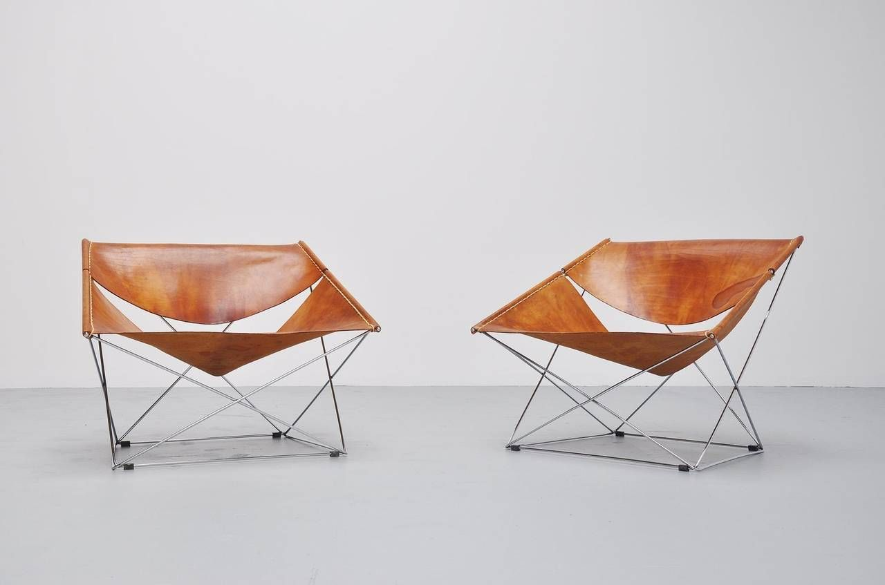 pair of pierre paulin f675 butterfly chairs for artifort 1963