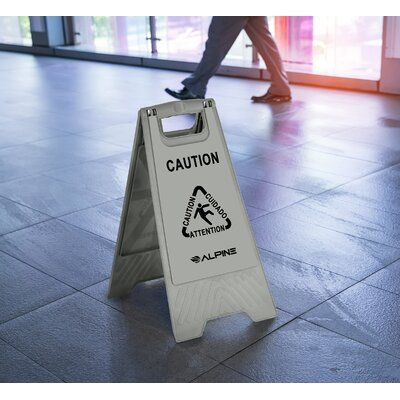 Alpine Industries Caution Wet Floor