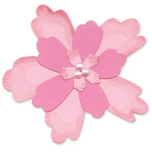 sizzix bigz die die cutting template flower layers 4 sizzix