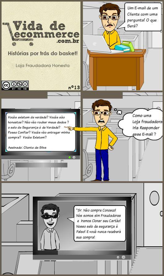 Loja Fraude Honesta #ecommerce #Tirinha