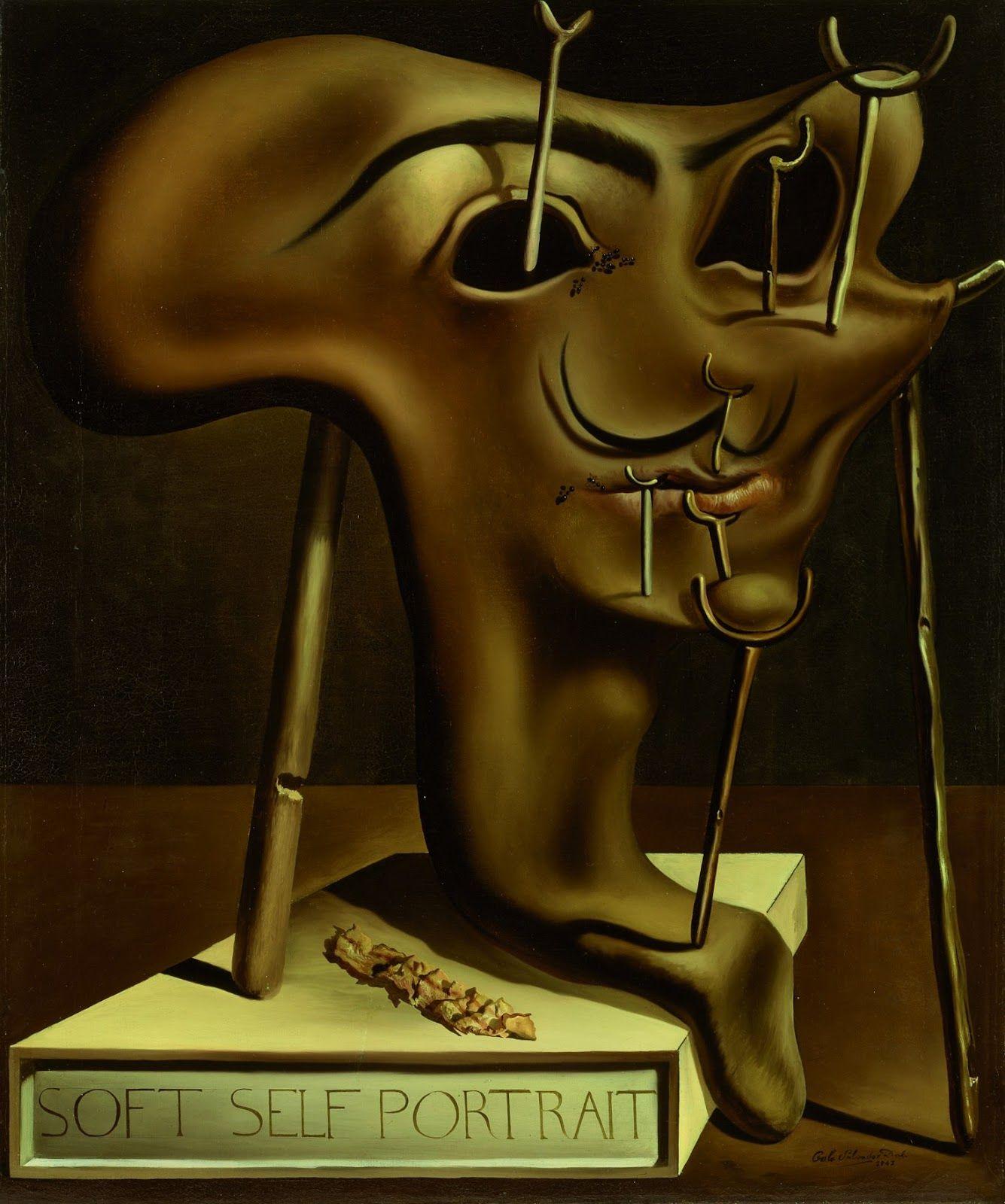 Attraktiv Dali Werke Dekoration Von Salvador - Soft Self-portrait With Grilled Bacon,
