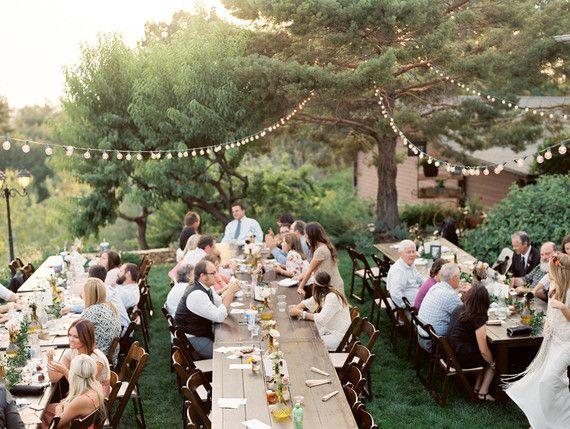 Summer backyard wedding | Backyard, Wedding reception ...