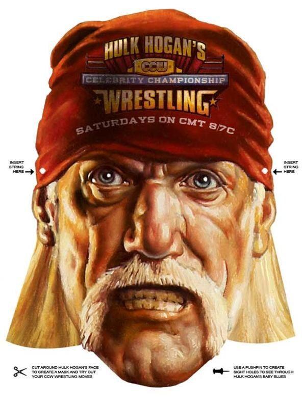 Last Minute Halloween Quickie 100 Free Printable Masks Printable Masks Hulk Hogan Hulk