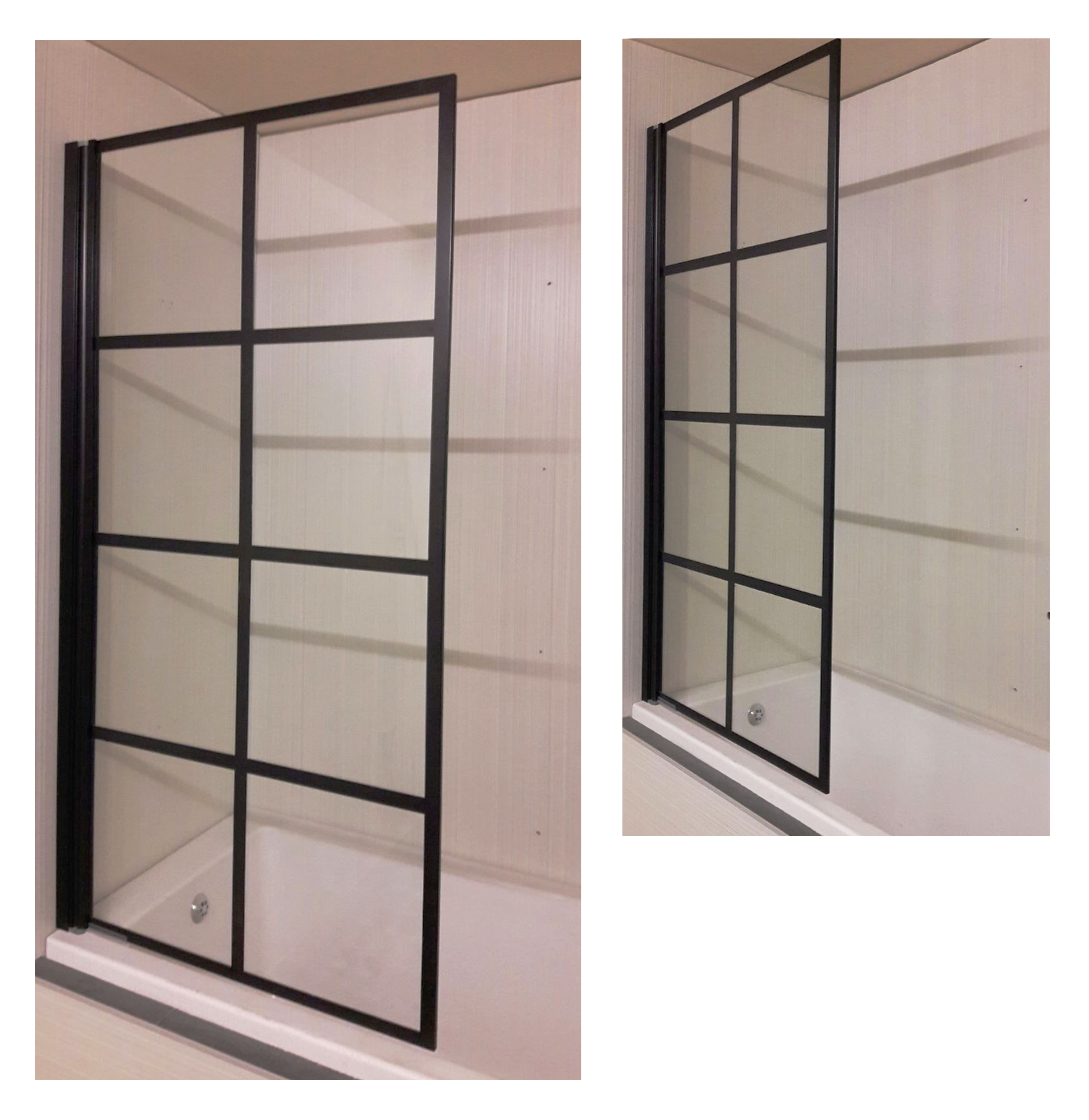 Thin Black Frames On This Shower Enclosure Offer A Stylish Alternative To  Plain Glass. #black #framed #showers