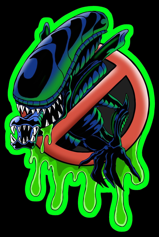 Bug Busters Ghostbusters Parody Alien Xenomorph 4 Inch Vinyl Etsy In 2021 Xenomorph Alien Alien Art