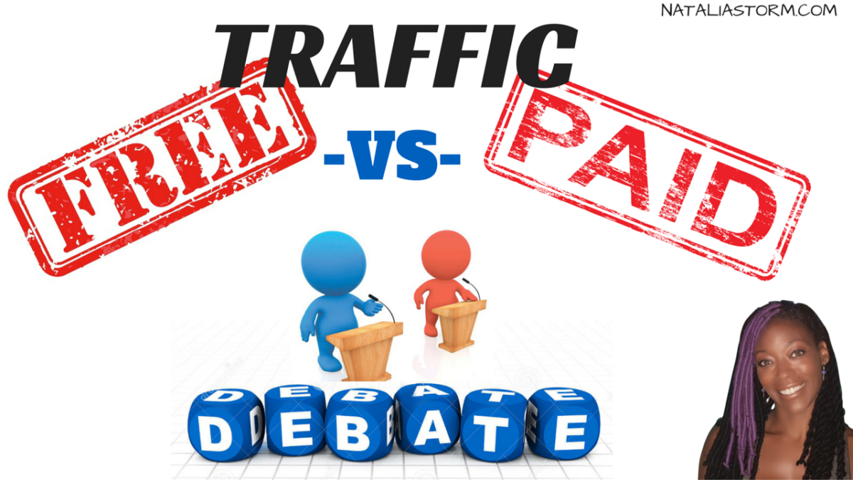 Free traffic vs paid traffic is a question on affiliate marketers minds. Which one should you choose? My views on the free traffic vs paid traffic debate.