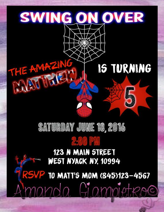 Spider man birthday invitation by amandagiampietro on etsy spider man birthday invitation by amandagiampietro on etsy filmwisefo