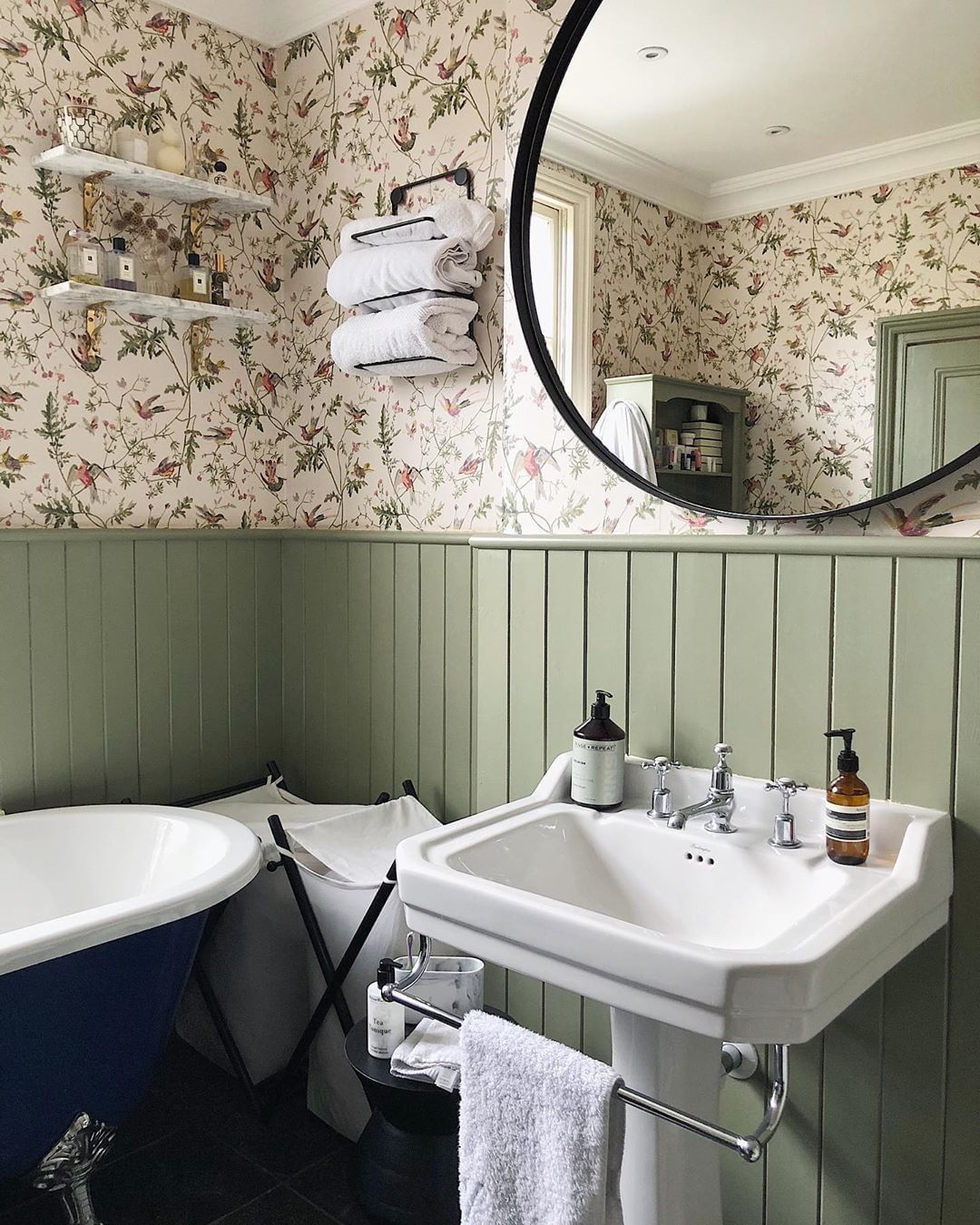 """Burlington Bathrooms on Instagram: """"This charming country-inspired"""
