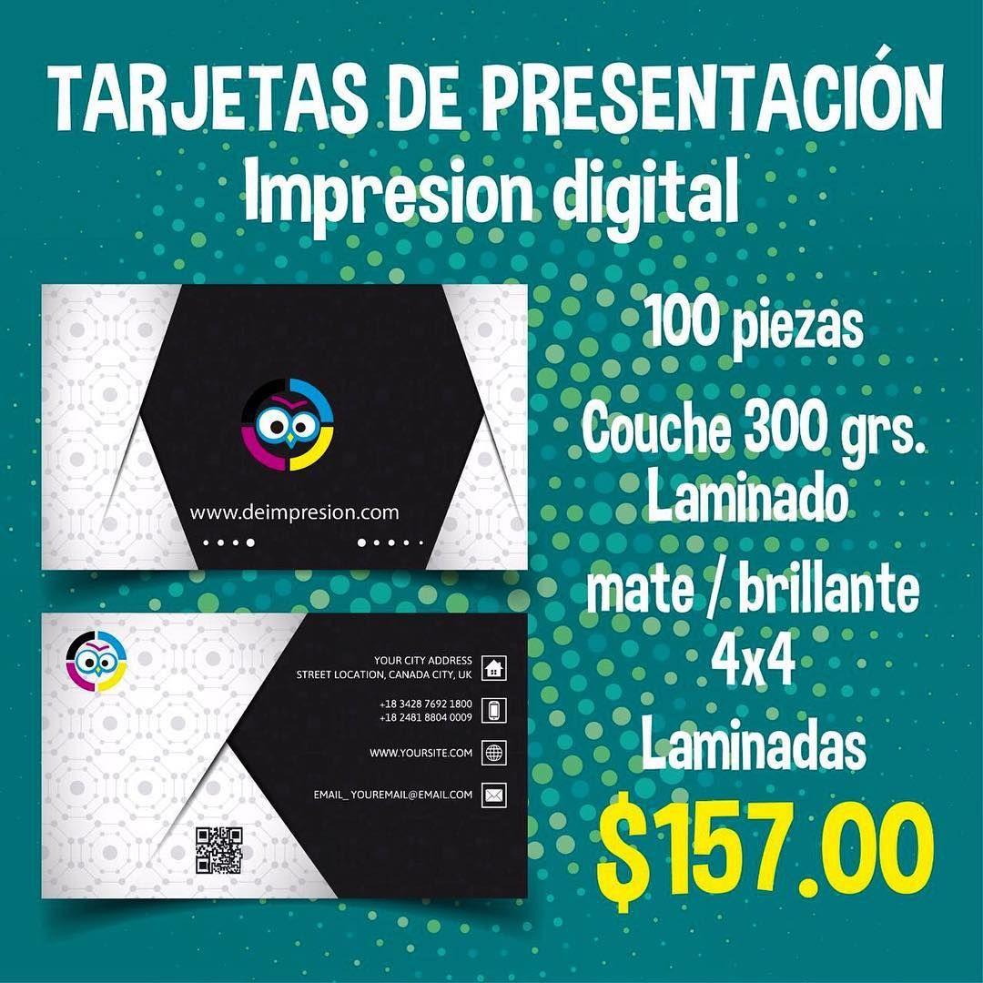 #tarjetasdepresentación #impresiondigital #4x4 #laminadotermico