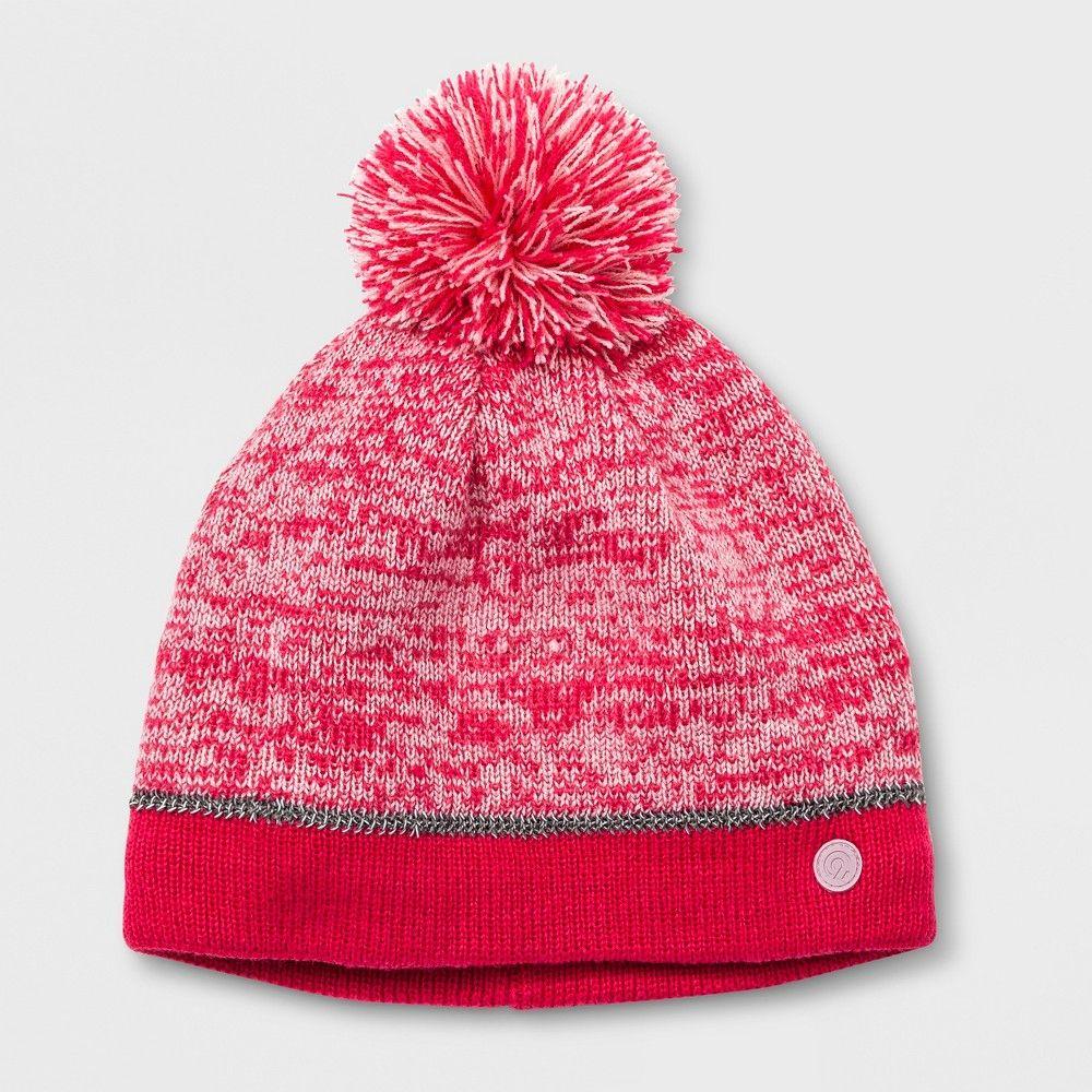 4badb62ad11a5 Girls  Marled Stripe Pom Beanie - C9 Champion Pink One Size ...