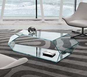 Dekon 2\' glass coffee table from Tonelli designed by Karim Rashid ...