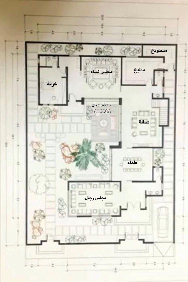 تصاميم منازل Floor Plan Drawing 3d House Plans New House Plans