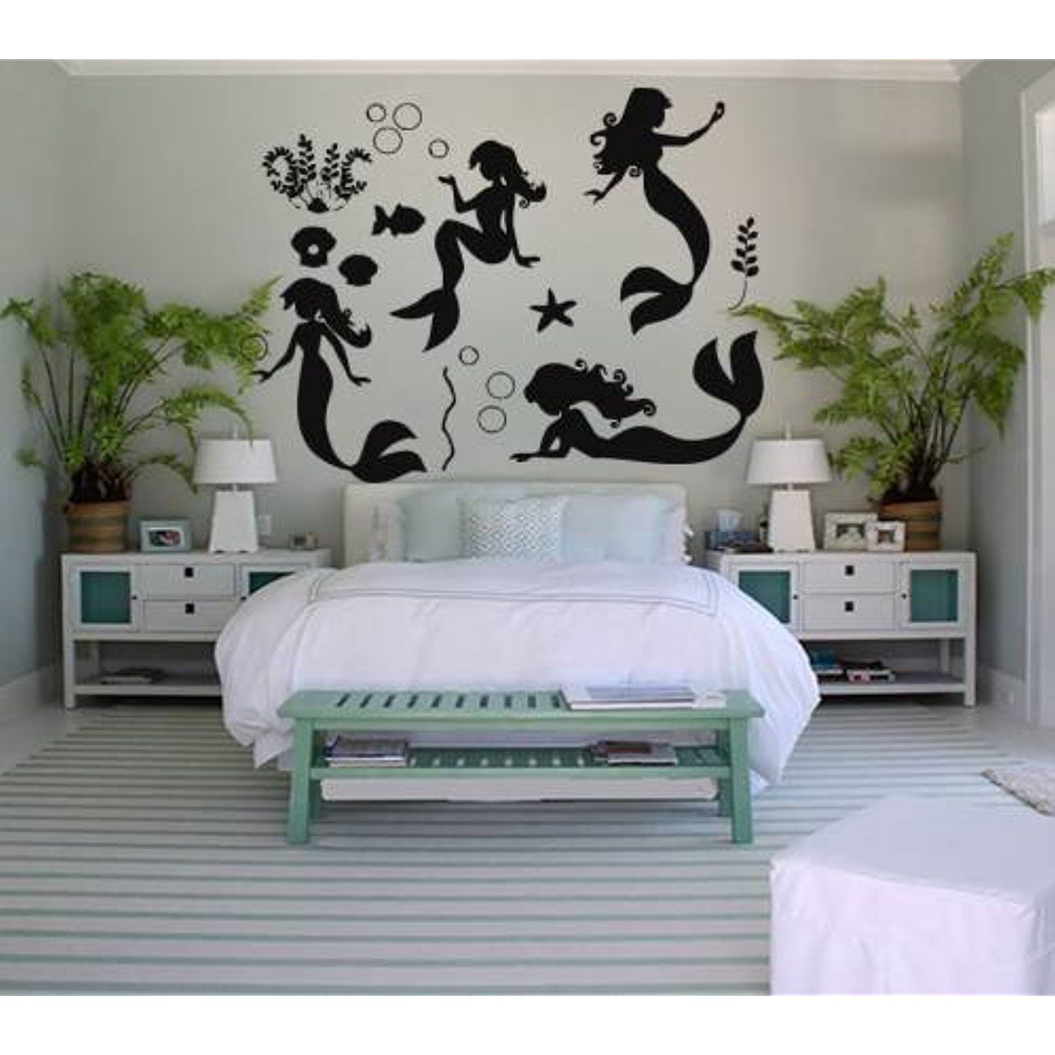 wall decals mermaid decal vinyl sticker bathroom window on wall stickers for hall id=80697