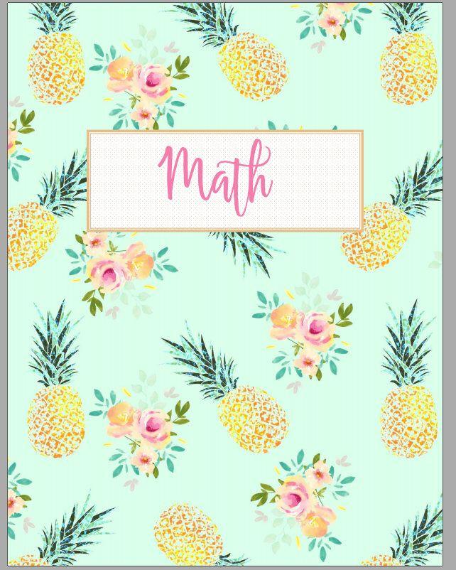 Pineapple Teacher Binder Covers By SweetPeoniesTeacher On