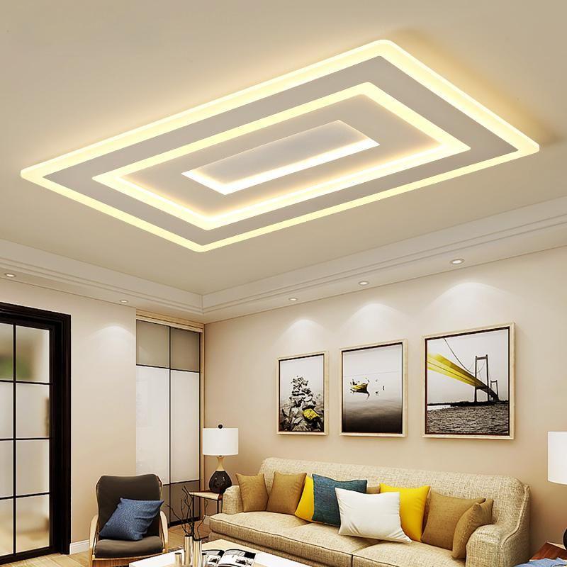 Modern Led Ceiling Lights For Living Room Bedroom Acrylic Indoor Lighting Ac85 265v Us 145 00 Ceiling Design Living Room Ceiling Design Bedroom Bedroom False Ceiling Design