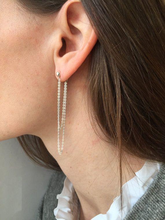 Sterling Silver Pierced Heart and Cross Post Back Earrings 3//8 Inch