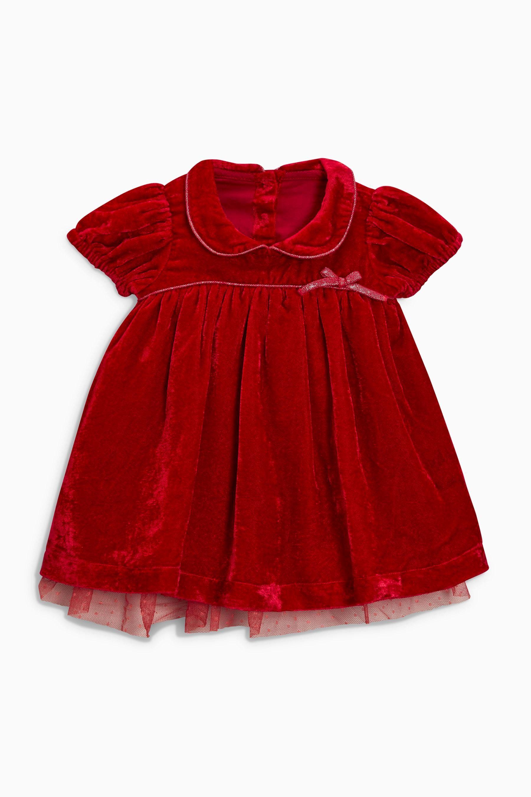 9f80084302fd9 Buy Red Velvet Dress (0mths-2yrs) from the Next UK online shop ...