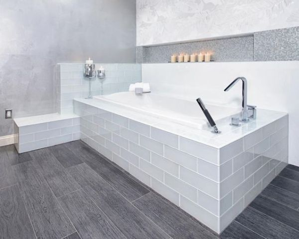 Grey Wood Patterned Vinyl Floors To Match A Modern