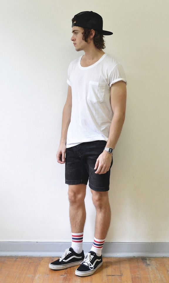high top vans with shorts guys