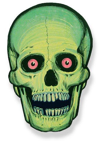 View Vintage Halloween Decorations Skull PNG