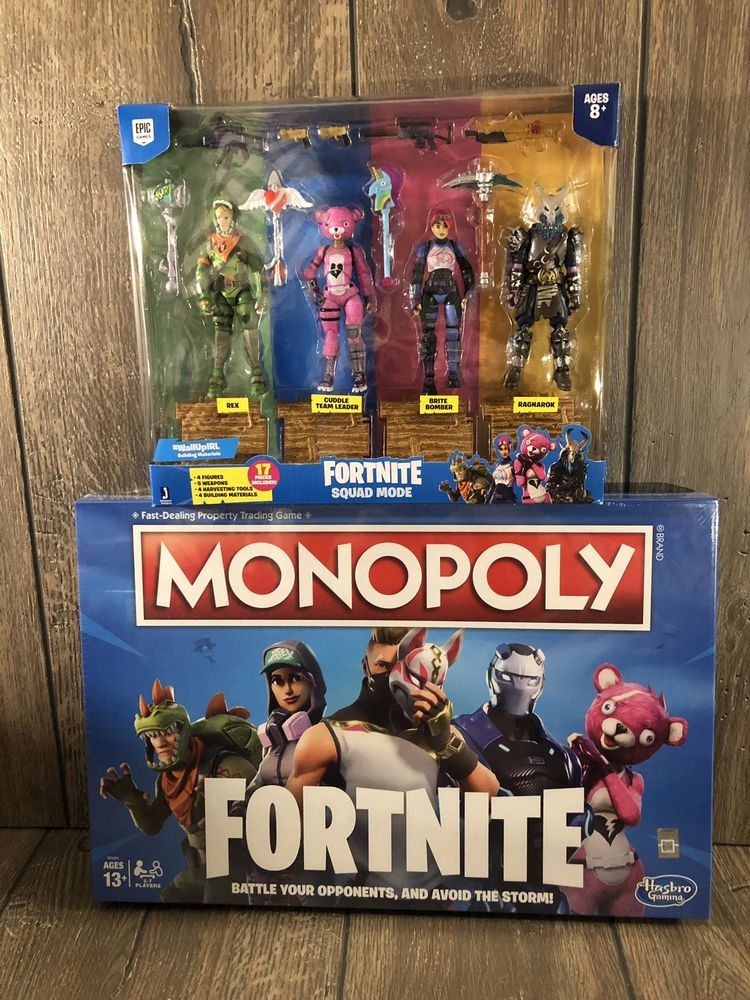 Fortnite Squad Mode Action Figures And Fortnite Monopoly Board Game