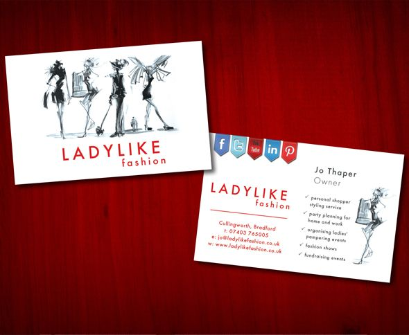 Double sided business card for | things i like | Pinterest ...