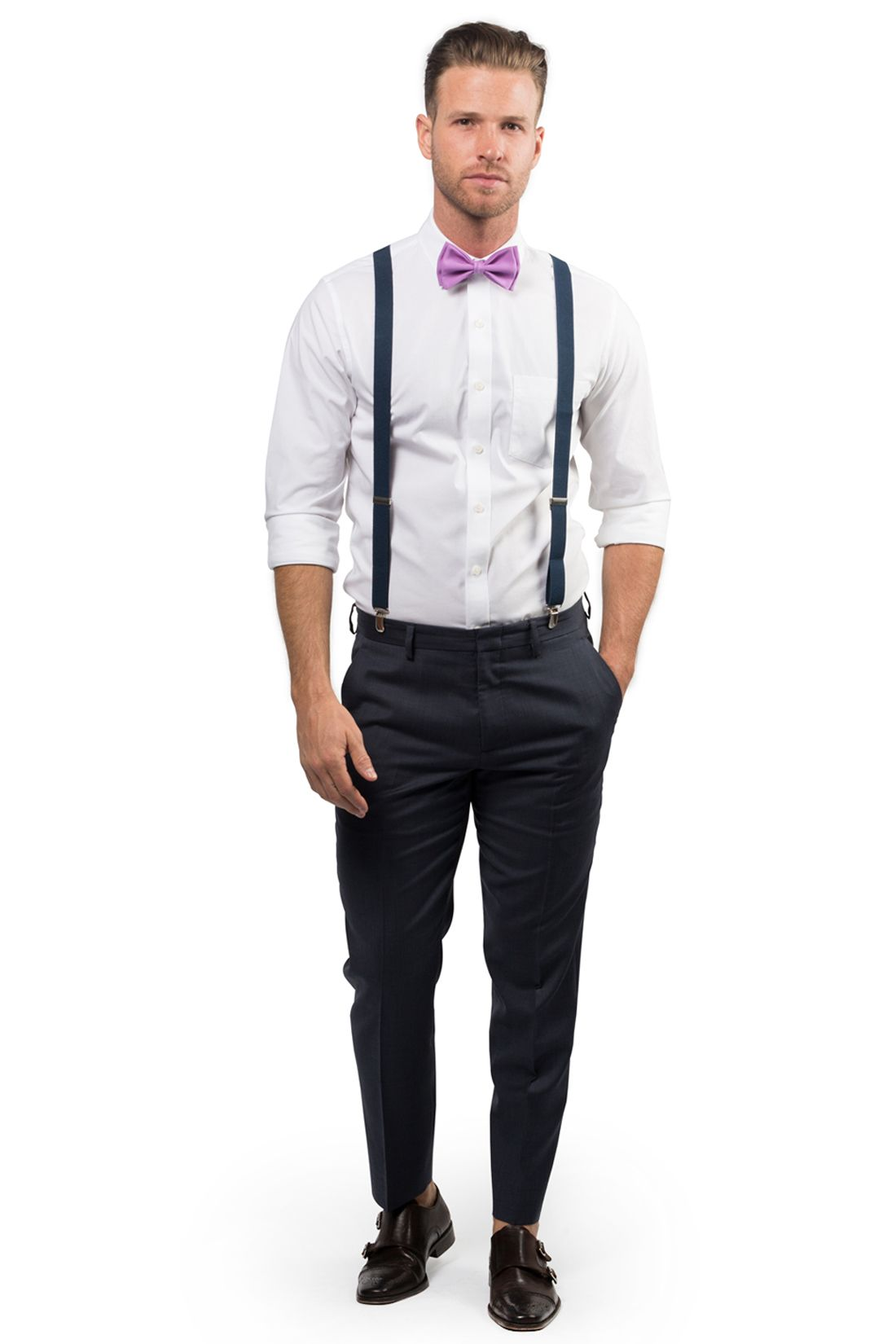 New Men/'s Formal Vest Tuxedo Waistcoat lavender/_Bowtie wedding prom party
