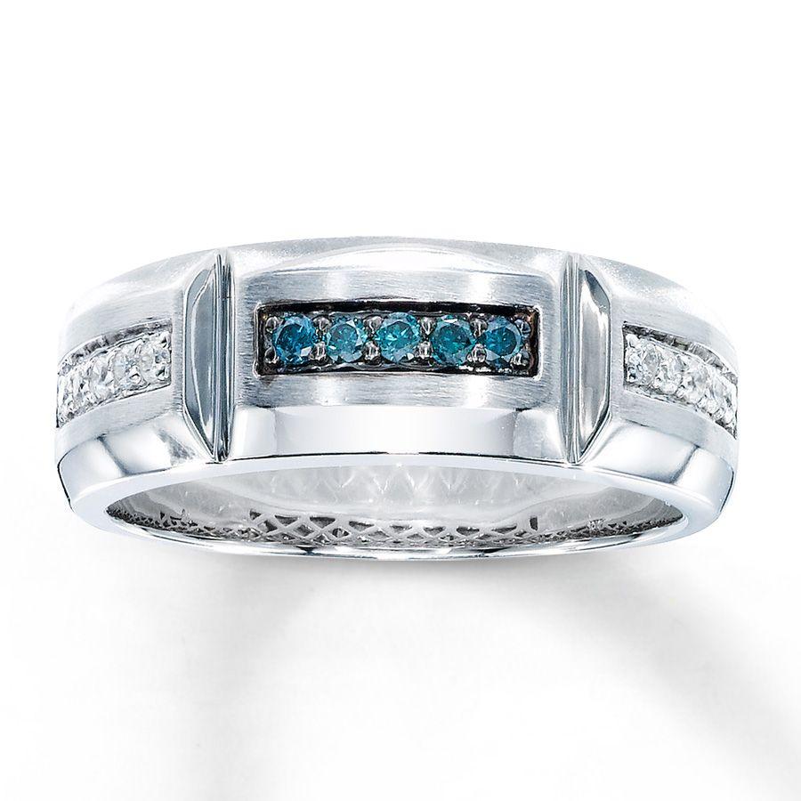 Mens Blue Diamond Wedding Band Blue Diamond Wedding Band Blue Diamond Wedding Ring Diamond Wedding Bands
