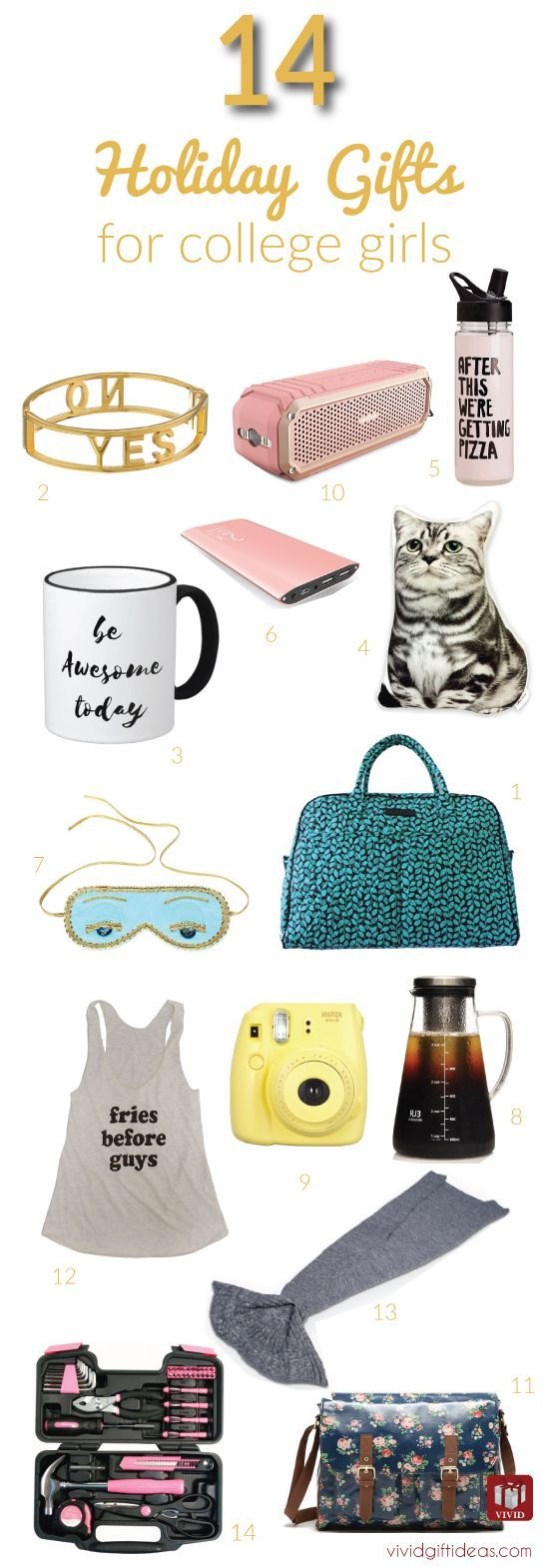 14 Great Christmas Gift Ideas for College Girls | Pinterest ...