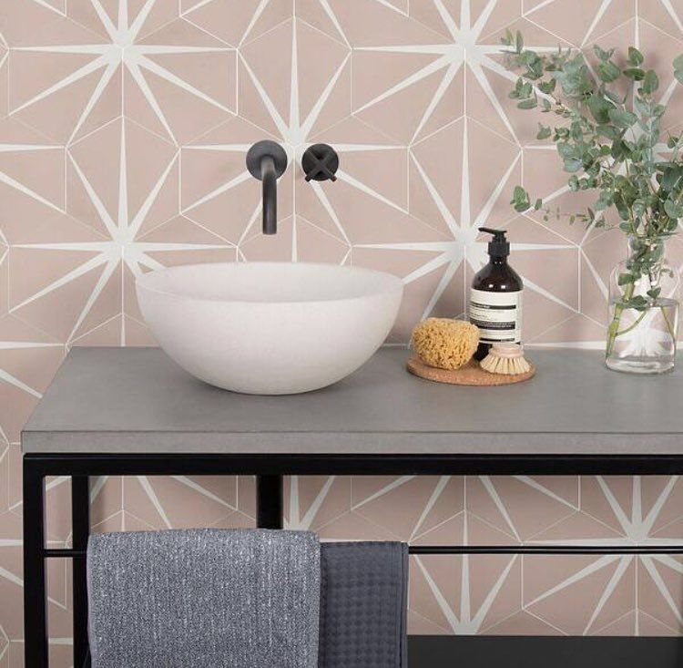 Ca Pietra On Instagram Think Pink Did You Know Our Best Selling Lily Pad Encaustic Tile Now Comes In This Soft Shade Lily Pads Encaustic Tile Tile Bathroom