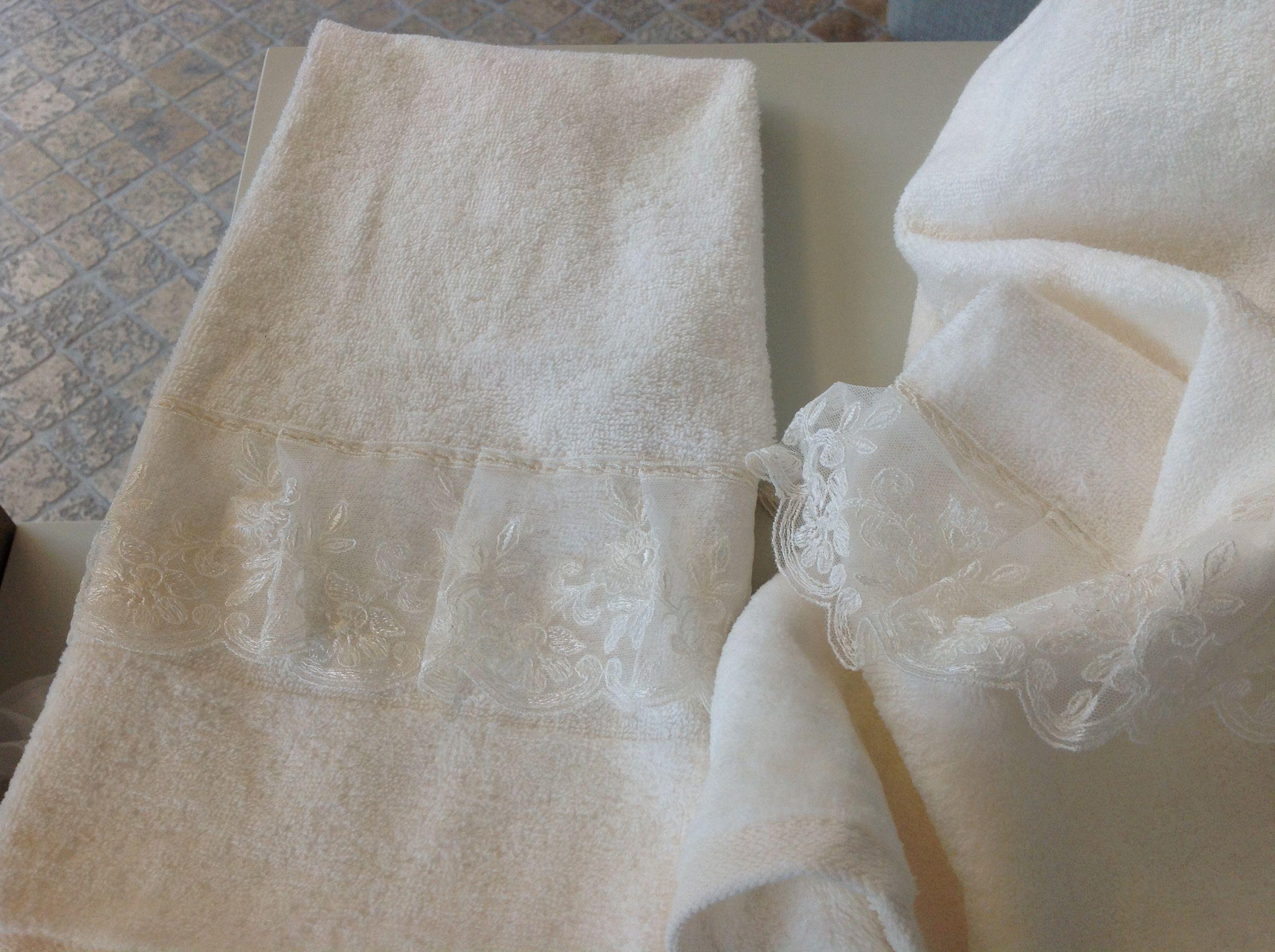 IRENE BI Set bagno in spugna con particolare pizzo www.irenebi.it ...