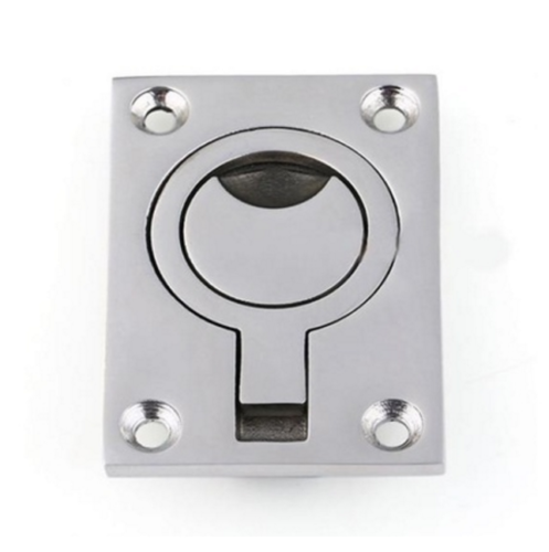 316 Stainless Flush Lifting Pull Heavy Duty Yacht Deck Hinge Plate Marine Grade