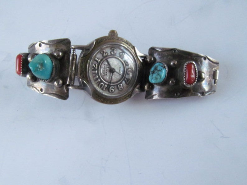 Navajo Turquoise Wrist Watch Southwestern Watch Band