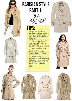Parisian Style, Part 2: The Trench - The Stripe