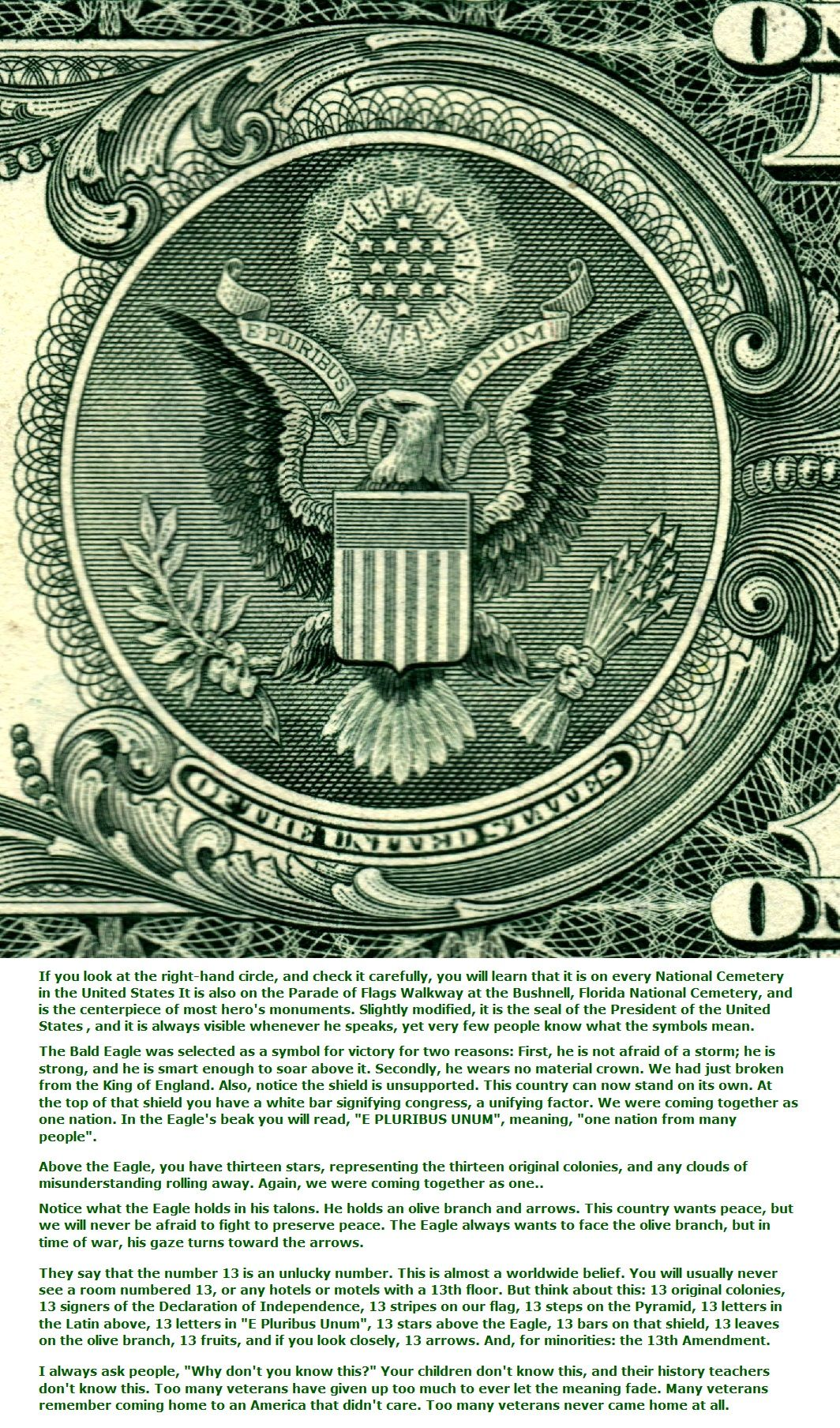 Facts one dollar close up presidential seal and meaning facts one dollar close up presidential seal and meaning uscurrency legaltender biocorpaavc Images