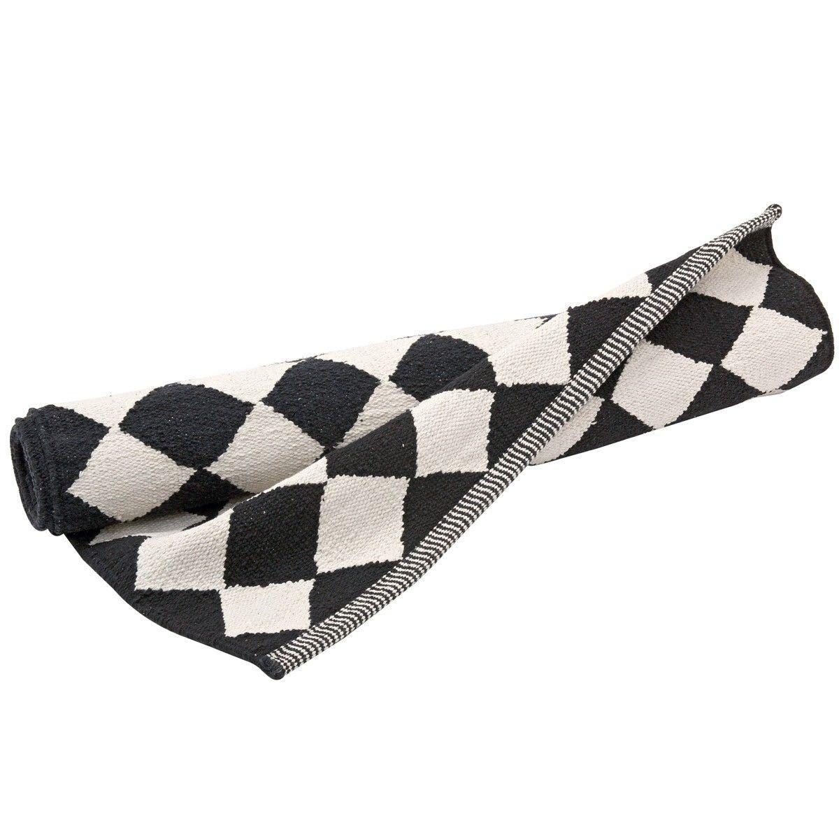 Teppich läufer schwarz weiß  Teppichläufer Diamond (Schwarz/Weiß) | Läufer, Schwarz weiß und ...