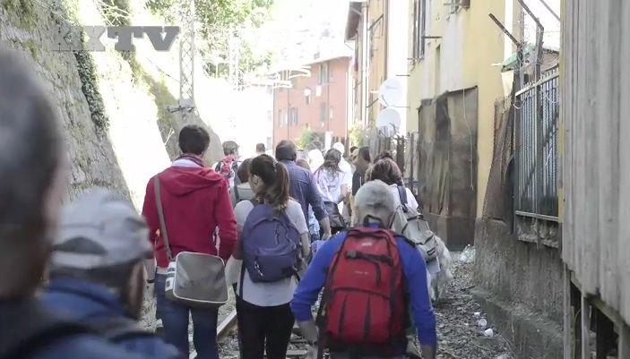 Legambiente e il trenino umano per Casella | Video Genova | XIX TV | Multimedia | Il Secolo XIX