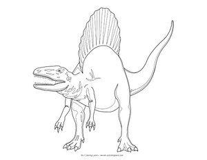 spinosaurus colouring pages printable coloring pages