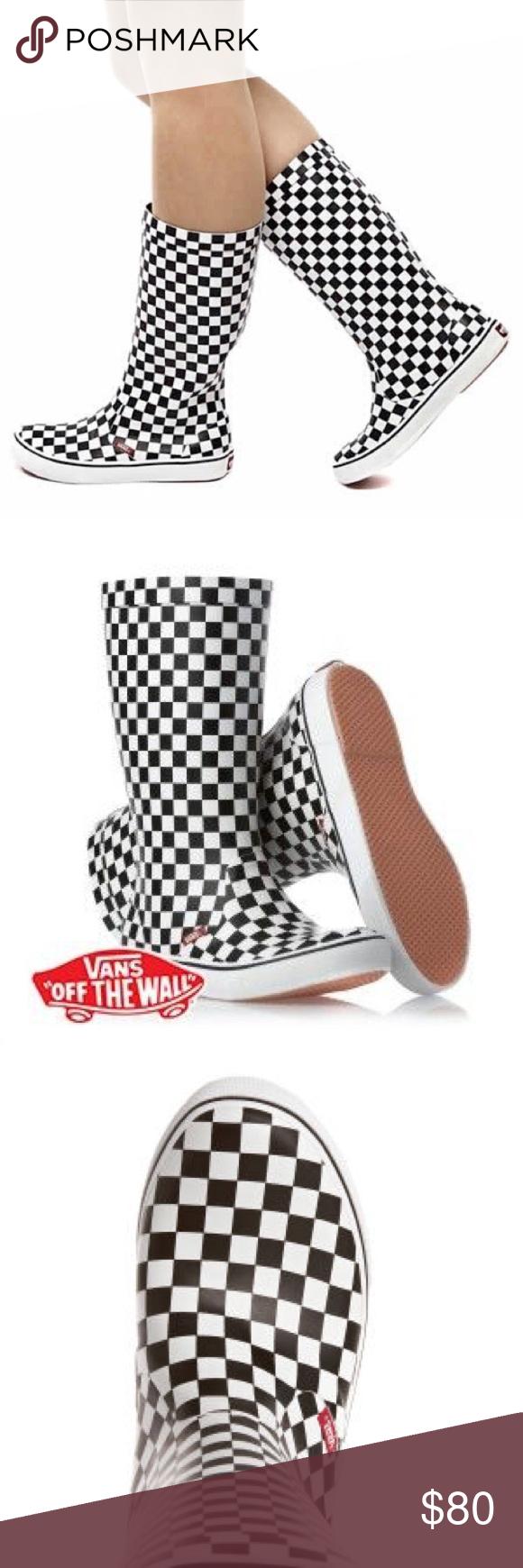 3d2f6aadee Vans Checkered Rainfall Boots Brand new