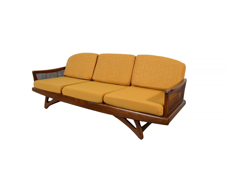 Adrian pearsall sofa in walnut mid century modern