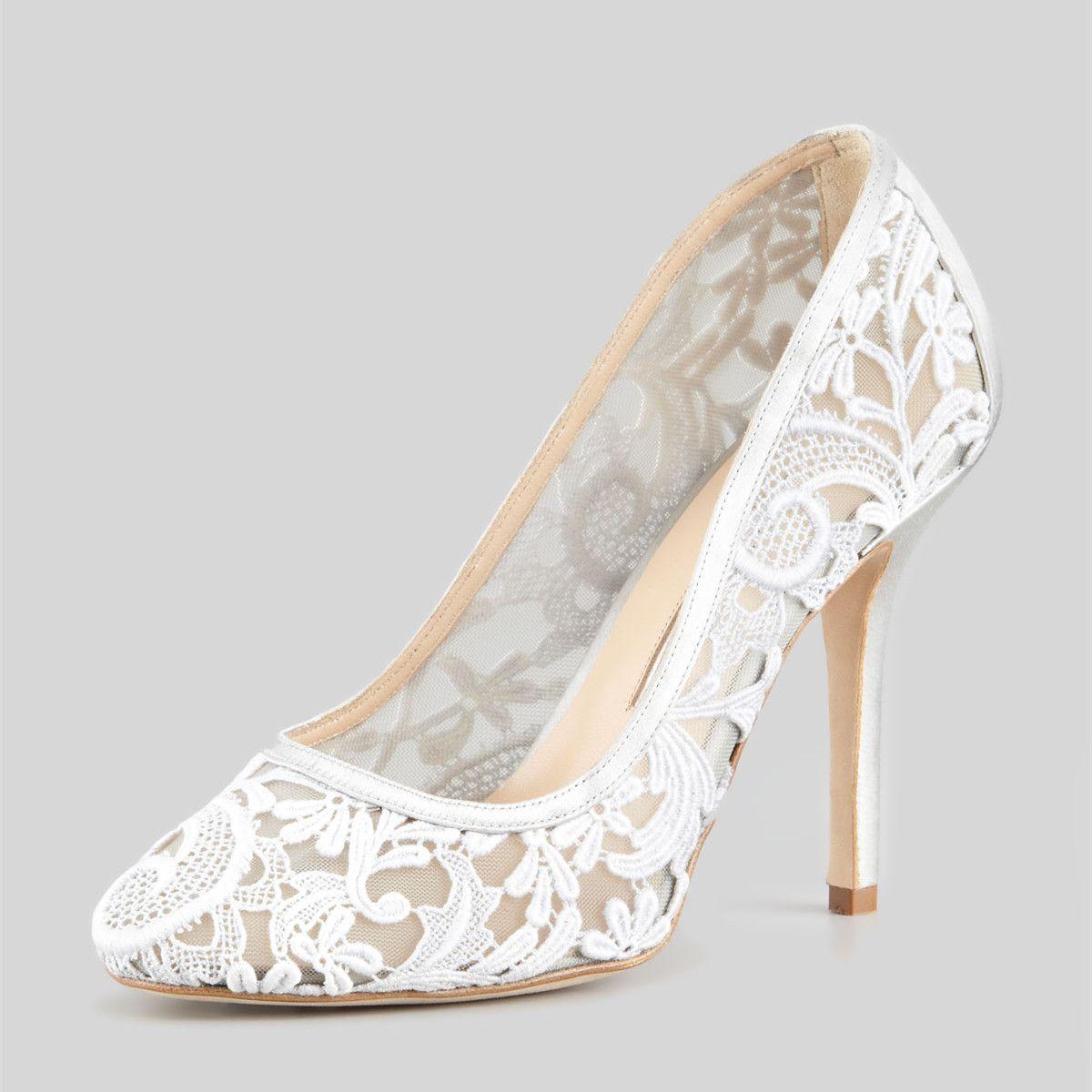 94d6e3e80263 Women s White Closed Toe Lace Stiletto Heel Pumps Bridal Shoes   elegantshoegirl  shoes  ankle  boots  flats  fashions  womens