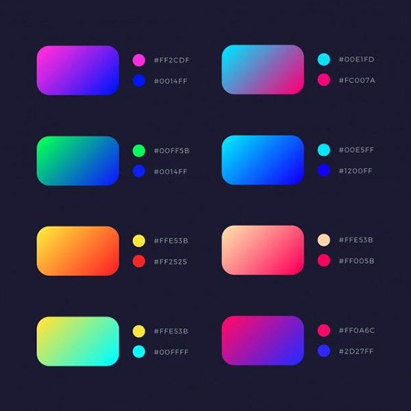 gradient colour  with code