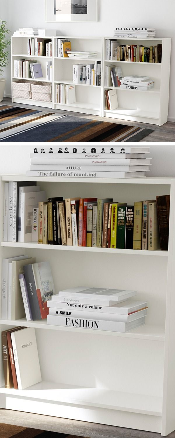 Ikea Home Office Library Ideas: Bookcase, White, 94 1/2x11x41 3/4 ""