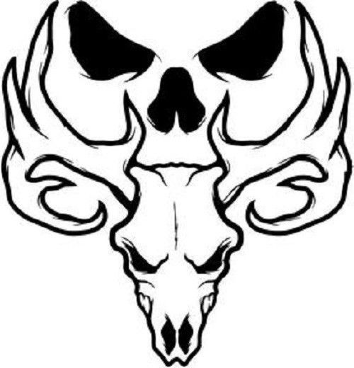bone collector vinyl decal 6 inch bone skull hunting deer rh pinterest ie Browning Symbol Tattoo Browning Buck Tattoo Meaning
