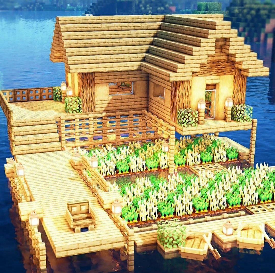 Fishing House Minecraft Farm in 2020 Minecraft farm