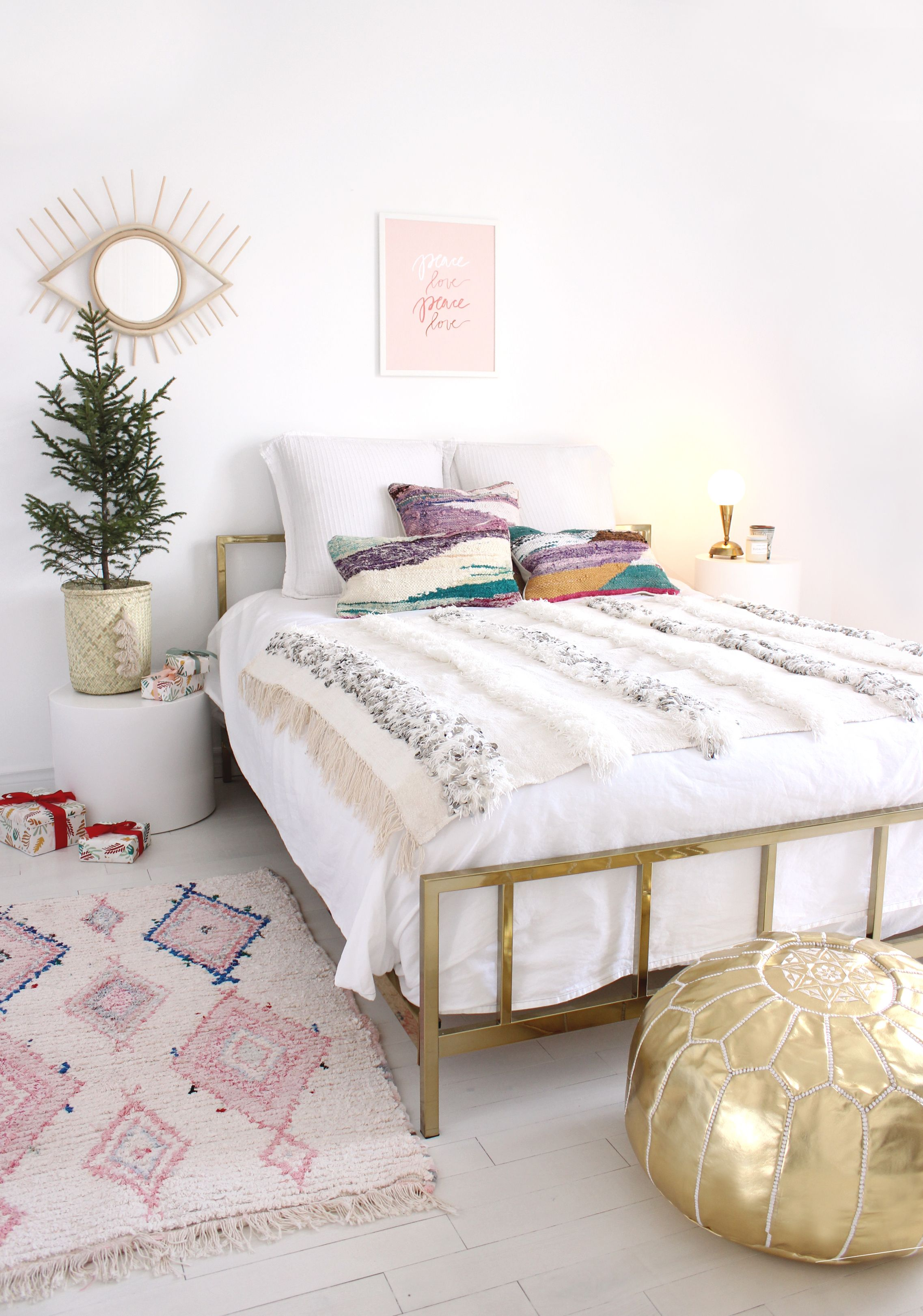 Modern Boho bedroom by Baba Souk | Home decor bedroom ... on Modern Bohemian Bedroom Decor  id=17372