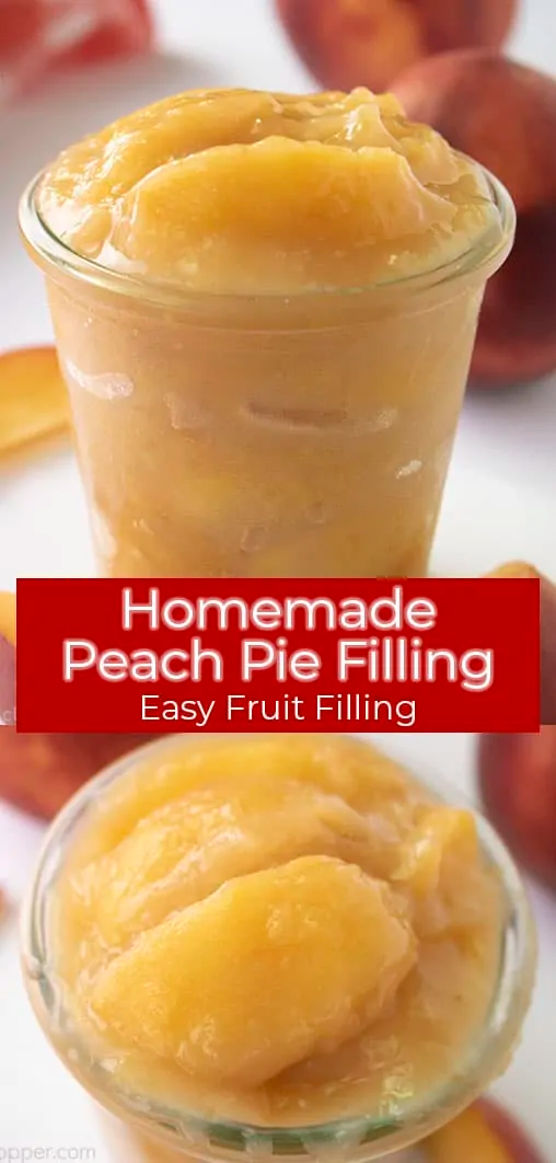how to make peach pie filling using canned peaches