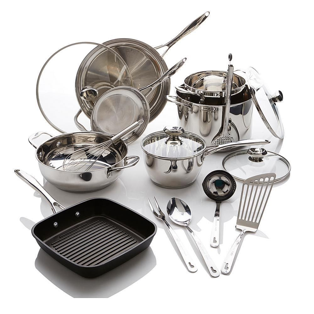 Wolfgang Puck Bistro Elite 17piece Stainless Steel Cookware Set