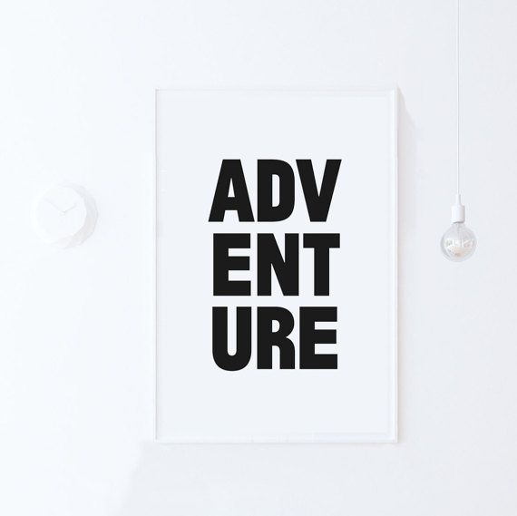 Travel wall art adventure wall art typography printable art inspirational art instant
